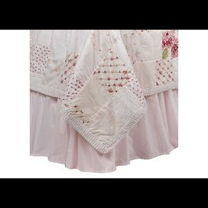 Shabby Chic Boutique Bedding - Pink Simply Shabby Chic Bed Skirt